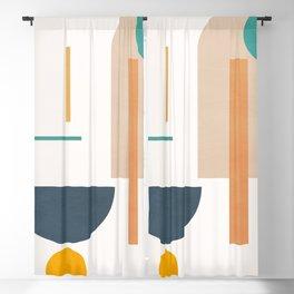 Minimal Geometric Shapes 102 Blackout Curtain