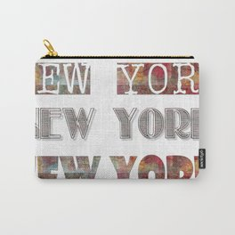 New York Typo Carry-All Pouch