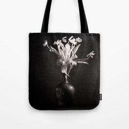 Old White Tulips Tote Bag