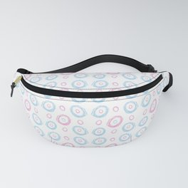 polka dot chalk version – blue and pink Fanny Pack