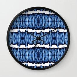 Tie-Dye Shibori Satinete Wall Clock