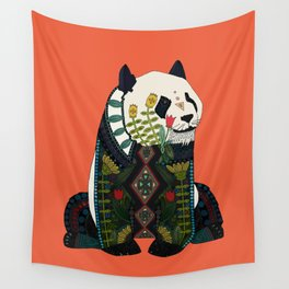 panda orange Wall Tapestry