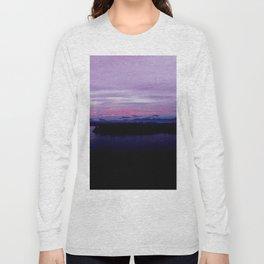 mahinapua golden hours purple reflections clouds dark Long Sleeve T-shirt