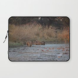 Wildlife Bathtube Time Laptop Sleeve