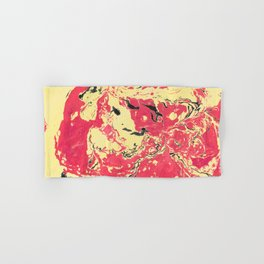 Gold and red Marble aqrylic Liquid paint art Hand & Bath Towel