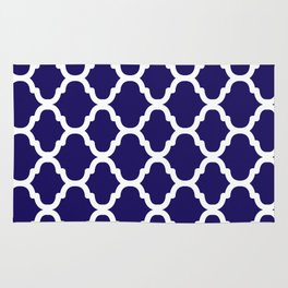 Moroccan Pattern Navy Rug