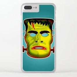 Frankenstein Monster Mask Clear iPhone Case