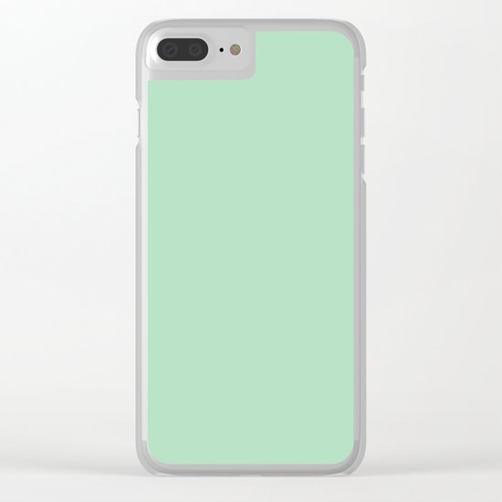 Sea Green Clear iPhone Case