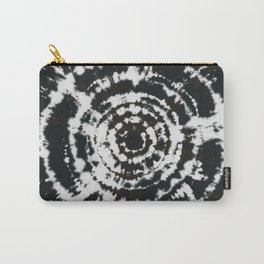 Black and White Bulls Eye Pattern Hippie Watercolor Tie Dye Carry-All Pouch