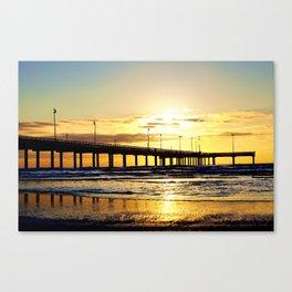 Sunrise in Port Aransas Canvas Print