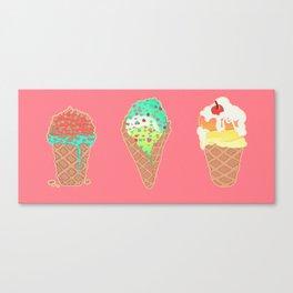 Neon Cones Canvas Print