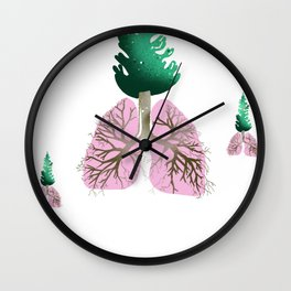 organic lungs Wall Clock