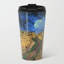 Wheatfield With Crows -Van Gogh Travel Mug