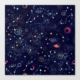 Space print Canvas Print