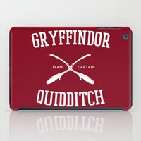 gryffindor iPad Cases featuring Hogwarts Quidditch Team: Gryffindor by IA Apparel