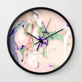 Texture light colored liquid Wall Clock