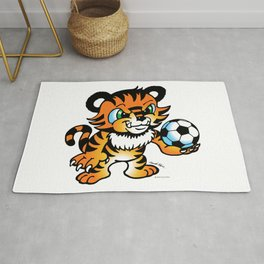 Soccer Tiger (color) square Rug