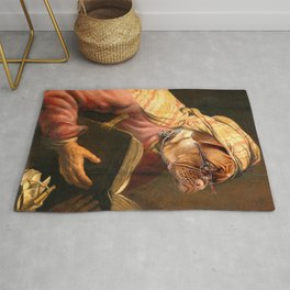 Dog pet classic royal oil painting Rug