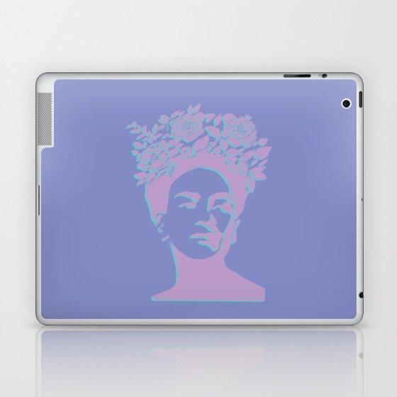 frida kahlo (purple version) Laptop & iPad Skin