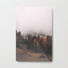 Smoky Autumn Forest Metal Print