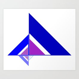 Blue and Pink Triangles Art Print