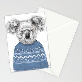 Winter koala Stationery Cards