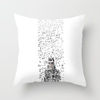catwoman Throw Pillows featuring Catwoman by justjeff