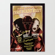 Night of the 3 Headed Beast - Gig Poster Canvas Print