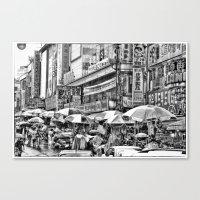 korean Canvas Prints featuring Korean Rain by Anthony M. Davis