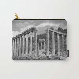 Euromos Ruins Black and White Photography Carry-All Pouch