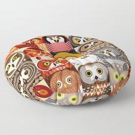 North American Owls Floor Pillow