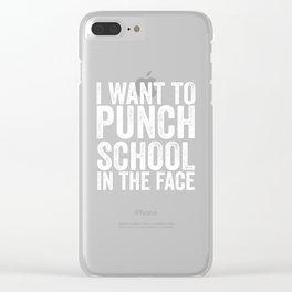 student school Hassfach schoolgirl holiday Clear iPhone Case