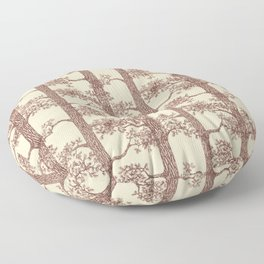 Pine Forest (Beige and Brown) Floor Pillow