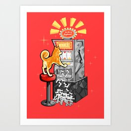 Shiba Slots Art Print
