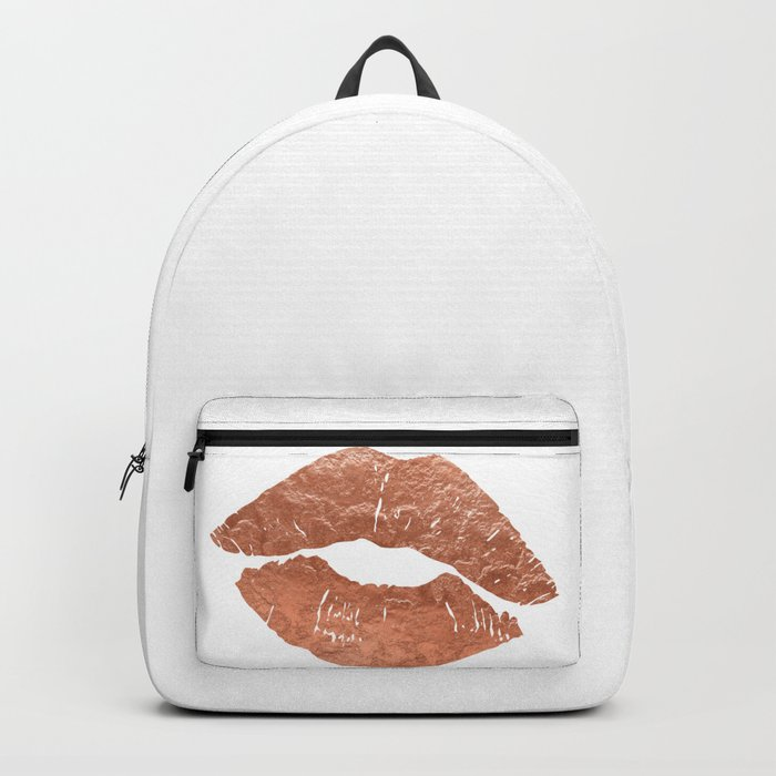 Rose gold kiss on the lips Backpack