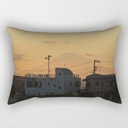 Mt. Fuji Sunset Rectangular Pillow