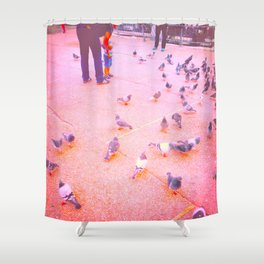 World of Birds and Possibilities Shower Curtain