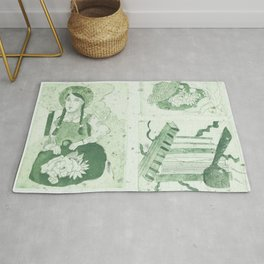 Anne of Gren Gables Green Rug