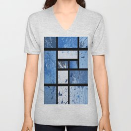 Movin with Pollock, Mondrian & Haring  Unisex V-Neck