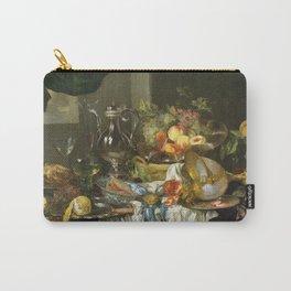Abraham Van Beyeren - Banquet Still Life Carry-All Pouch