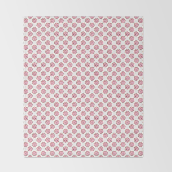 Pink Concha Pan Dulce Mexican Sweet Bread Throw Blanket By