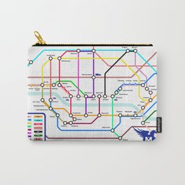 Mythical Creatures Subway Map Carry-All Pouch