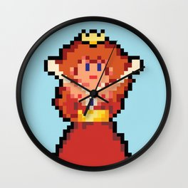 Pixel Damsel Wall Clock