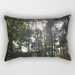 Light Through Trees. Rushmere Country Park, Bedfordshire Rectangular Pillow