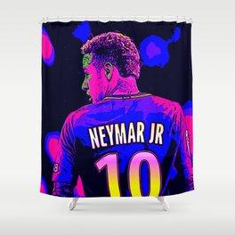 Neon Neymar Shower Curtain