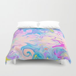 Abstract Pattern Blue and Purple Duvet Cover