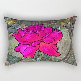 Red Rose in the garden Rectangular Pillow