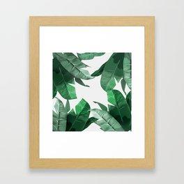 Tropical Palm Print Framed Art Print