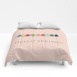 Hello Spring Birds Comforters