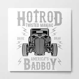 HotRod Twisted Maniac Metal Print